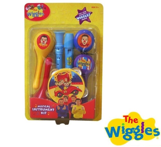 New The Wiggles Musical Instrument Kit Set Kids Toy Recorder Tambourine Music