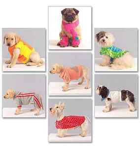 McCalls Crafts Pets Sewing Pattern 5776 Dog Coats, Scarf & Leg Warmers FREE POST