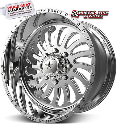 "American Force Flex SS8 Polished 26""x16 Truck Wheels Rims 8 Lug (Set of 4)"