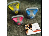 Set of kettlebells