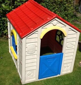 Rancho children 39 s playhouse kids garden plastic wendy for Used kids playhouse