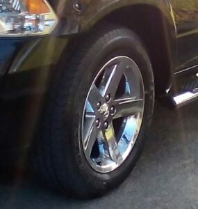 four dodgeram rims and tires for sell