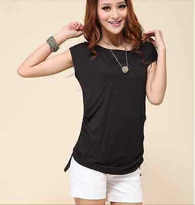 Ladies summer new arrival plus size short-sleeve T-shirt/slim top size 14-16