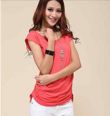 Ladies summer new arrival plus size short-sleeve T-shirt/slim top size 16-18