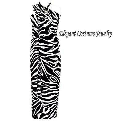 Winter Clearance Sale (CLEARANCE SALE  Zebra Black White Swim suit cover Winter Cruise Fringed)