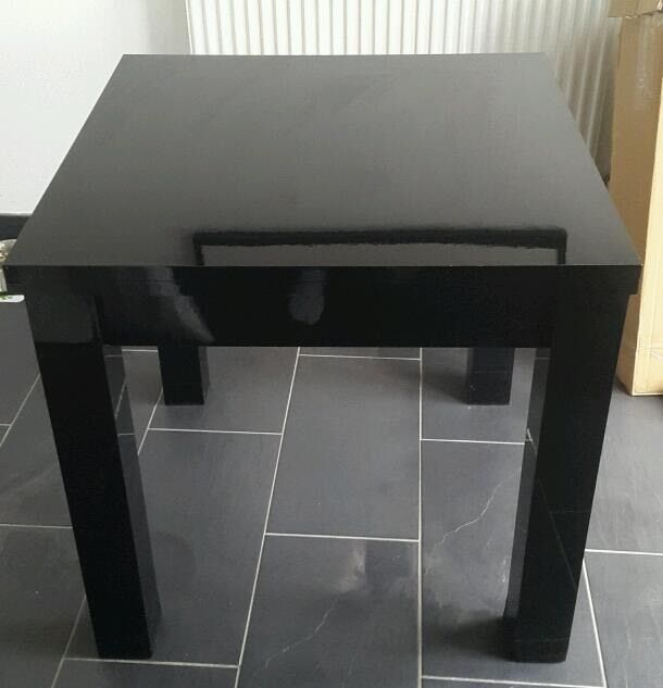 Next black gloss extending dining table in Hove East  : 86 from www.gumtree.com size 610 x 633 jpeg 31kB
