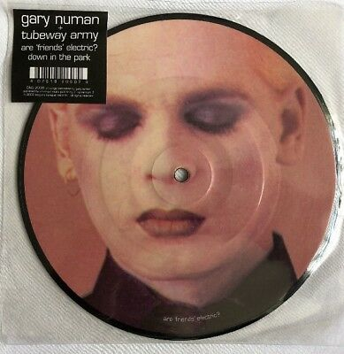 """GARY NUMAN -Are Friends Electric/Down In The Park- Rare 2008 7"""" Picture Disc"""