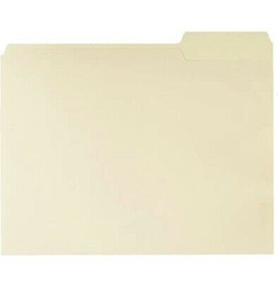 13-cut Right Position File Folders Letter Size Manila - Pack Of 100