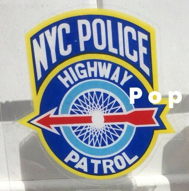 NYPD NYC POLICE HIGHWAY PATROL OFFICIAL NYS DECAL STICKER In/Win/FacesOutside *O