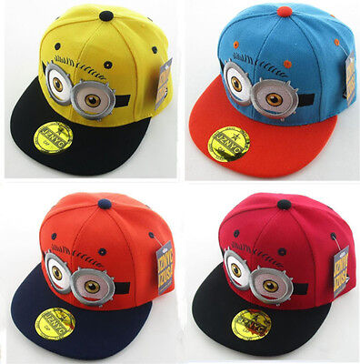 E Hüte Mützen Einstellbar Kinder Baseball Mütze Hut Cap Hats (Despicable Me Minion Hat)