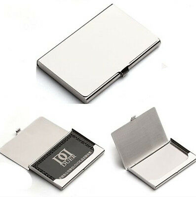 Business Name Credit Id Card Holder Box Metal Stainless Steel Pocket Box Case Hs