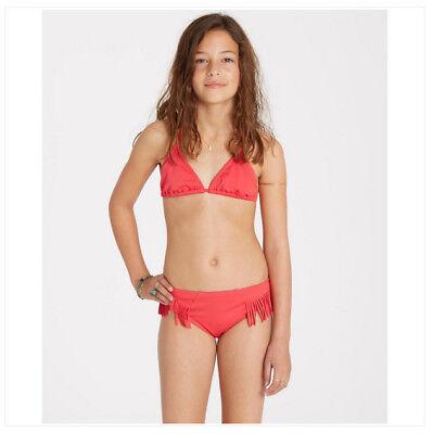 Billabong Sol's Search Mädchen Jugend Poly Stretch Bikini Satz 10 Wild Beere Neu
