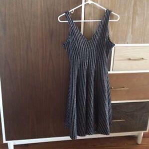 Zara black and white flared dress with tags