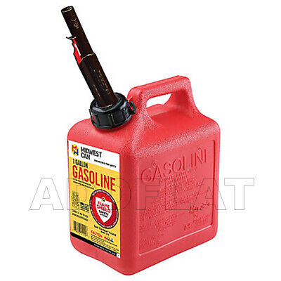 1 Gallon 4 Ounce Midwest Can Co Vented Spill Proof Spout Clean Gasoline Tank