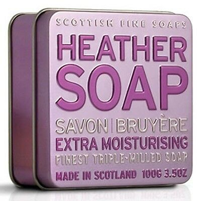 Scottish Fine Soaps Extra Moisturising Heather Soap In A Tin 100G 3 5Oz
