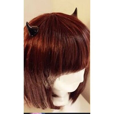 NEW~ WOMEN / GIRLS SMALL COSPLAY DEVIL HORN BARRETTES HAIR CLIPS / CLAWS COSTUME - Devil Horn Clips