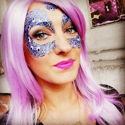 Mask Temporary Tattoo : Bachelorette, Halloween, Mardi Gras, Festivals, Birthday - Halloween Mardi Gras Festival