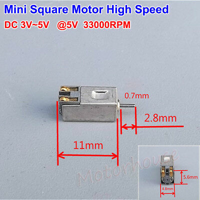 Micro Mini Square Dc Motor 3v 3.7v 5v 33000rpm High Speed Motor Diy Parts Toy