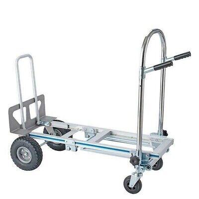 3 In 1 Aluminum Hand Truck Dolly Cart Foldable 2 Or 4 Wheel 770lbs Heavy Duty