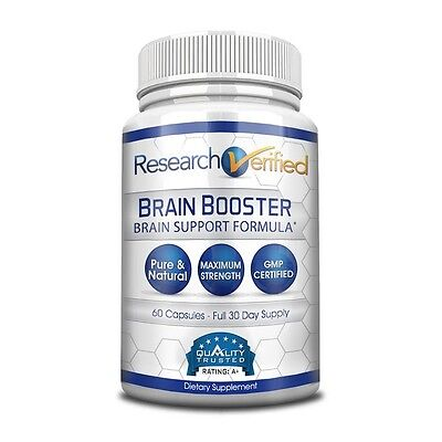 Research Verified Brain Booster - Brain Supplement Nootropic (1 Bottle)