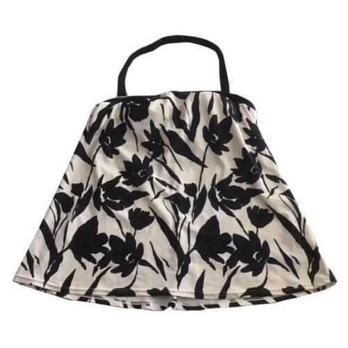 Mimi Maternity Small Black White Floral Tankini Top Swimsuit