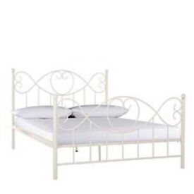 Cream double bed