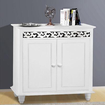 White Cabinet Sideboard Modern Cupboard Wooden Furniture Unit Storage 2 Door