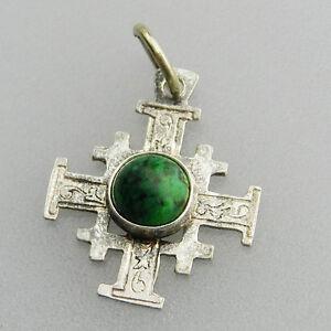 Sehr schönes 925er Silber Jerusalem Kreuz  - S7088