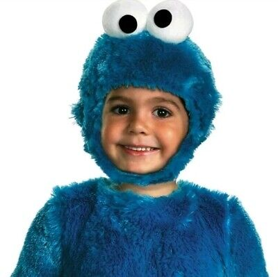 Cookie Monster Halloween Costume plush Toddler Baby 2T Sesame Street soft new