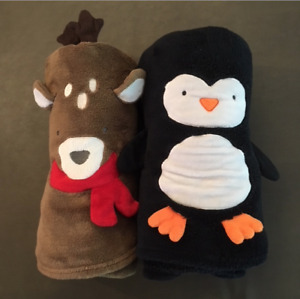 ROLL-UP CHARACTER BLANKETS GREAT FOR KID'S TRAVEL!!