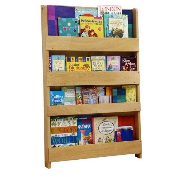 Tidy Books Bookcase, Natural Wood
