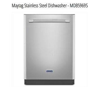 Brand New Maytag 24-inch Durable Dishwasher with ChopperDisposer