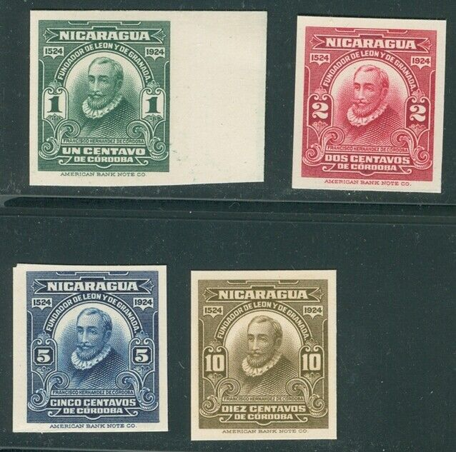 Nicaragua 1924, 4 PROOFS On Thin Card, From Am. Banknote Archives, 422-5 - $24.99