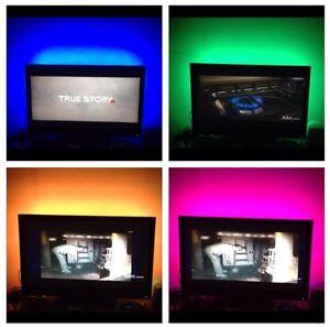 Led Tv Back Lights Multi Color RGB Accent Lighting Kit For 55