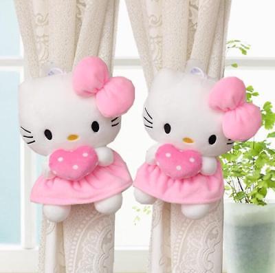 Cute Hello Kitty Couple Curtain Elastic Bandage Curtain Buckle Home Decoration ()