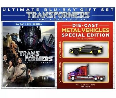Transformers The Last Knight Die Cast Gift Set BLU-RAY DVD Movie Optimus Prime