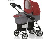3-in-1 baby pushchair , car seat and carriage