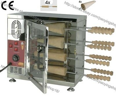 Heavy Duty Electric Hungarian Kurtos Kalacs Machine Chimney Cake Oven Roll Grill