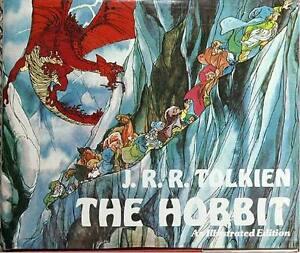 THE-HOBBIT-AN-ILLUSTRATED-ED-TOLKIEN-ORIGINAL-PRINT-GLASSINE-COVER-RARE