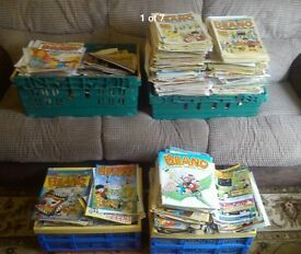 Around 2500 comics here, mainly Beano and Dandy, also Warlord, Beezer etc around 15 different types