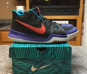 Size 11 Pair of black-and-purple Kyrie 3, Basketball shoes