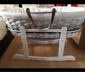 Mothercare ombré grey Moses basket