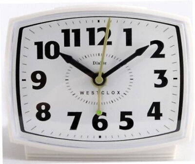 Westclox Alarm Clock Electric White Plastic Case 22192A