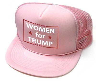 Pink Baseball Hat (Women For Trump Pink Baseball Cap Flat Bill Trucker Hat)