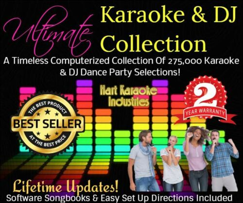Professional Karaoke Songs and DJ Collection - Monthly Updates -For Windows PCs