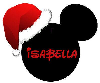 DISNEY  VACATION MICKEY CHRISTMAS PERSONALIZED FABRIC/T-SHIRT IRON ON TRANSFER](Disney Christmas Shirts Personalized)