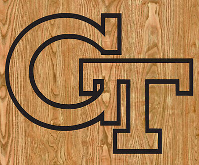 2 Georgia Tech GT Cornhole Decals LARGE 15x11