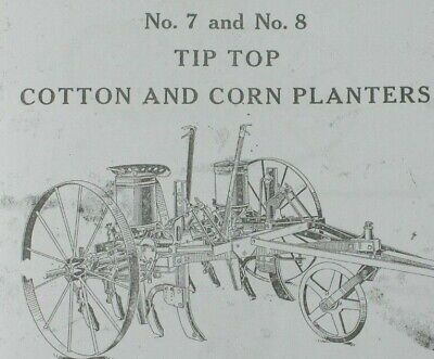 Ih Mccormick-deering No 7 8 Tip Top Corn Cotton Planter Sulky Riding Horse Drawn