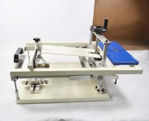Manual Cylinder Silk Screen Printing Machine Surface Curve Bottle/Cup/Pen Press 219011