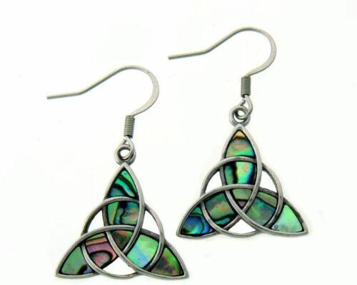 316 L Stainless Steel Trinity Abalone Earrings